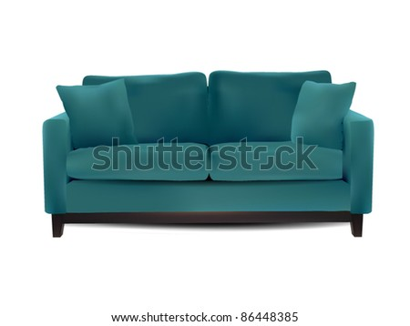 Vector Sofa isolated on white - stock vector