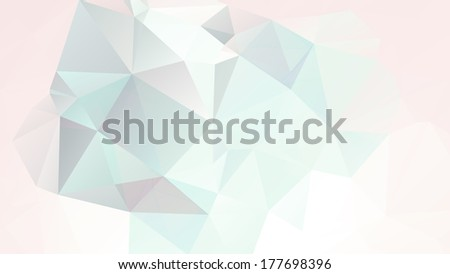 Vector soft pastel geometric background with gradients, lines, different colors eps 10 stained-glass window glass with a retro design Full HD resolution - stock vector