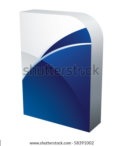 vector software box - stock vector