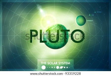 Vector Solar System - Planet Pluto - stock vector
