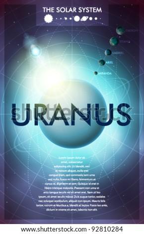 Vector Solar System - Planet Uranus - stock vector