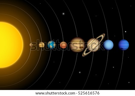 solar system planets stock photos royalty free images & vectors  : planets diagram - findchart.co