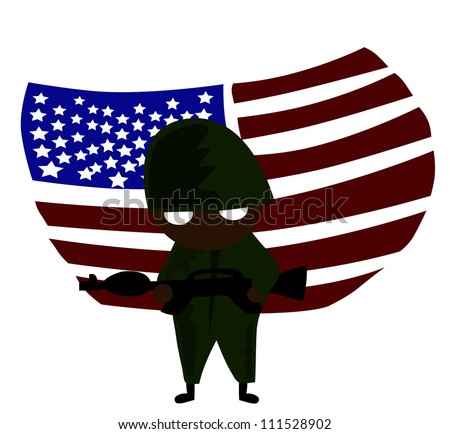 Vector - Soldier of America.
