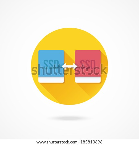 Vector Solid State Drives Data Transfering Icon - stock vector
