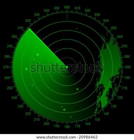 Vector sonar scope - stock vector