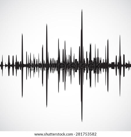 Vector sound waves background - stock vector