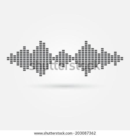 Vector soundwave music icon - sound spectrum - stock vector