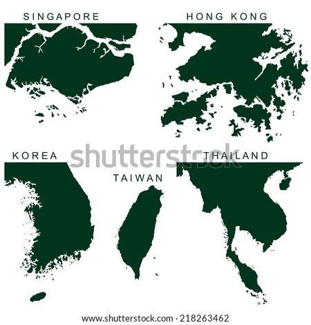 Vector Southeast Asia Pictogram - stock vector