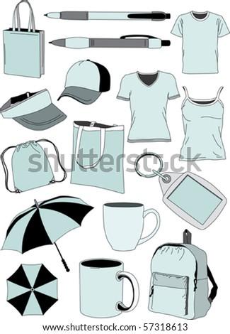 Vector souvenir collection - stock vector