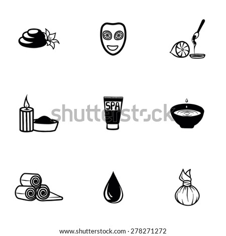 Vector Spa icon set on white background
