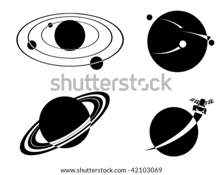 Vector space objects - stock vector
