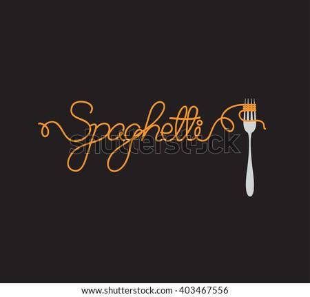 vector spaghetti  - stock vector