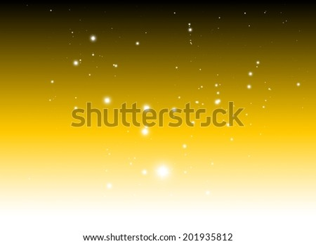 Vector sparkle falling background vector illustration - Vector glitters and sparkles orange background template - stock vector