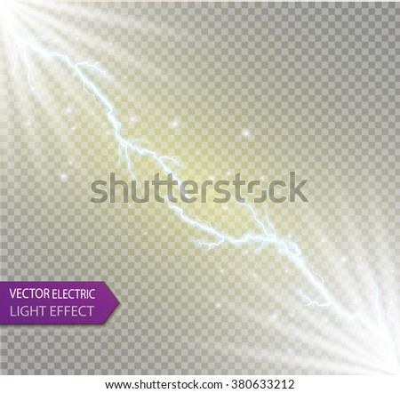 Vector Sparksvector Electrical And Staron A Transparent Background