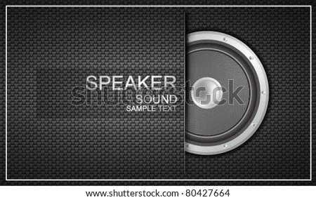 Vector speaker business card - stock vector