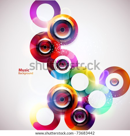Vector speakers design - stock vector