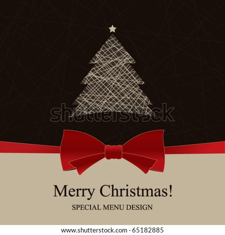 Vector. Special Christmas menu design. - stock vector