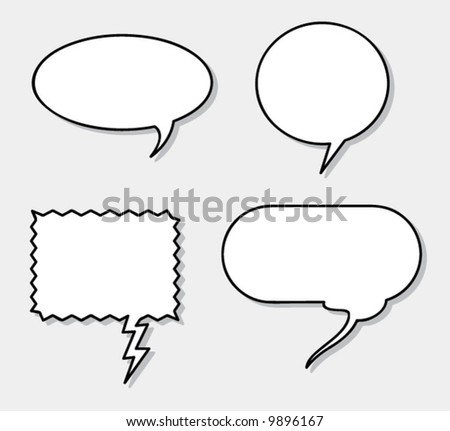 Vector Speech Balloons! Add your own text easily! - stock vector