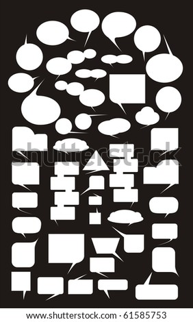 VECTOR - Speech Bubbles - stock vector