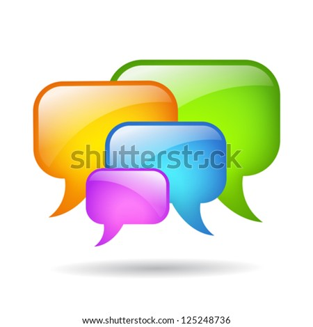 Vector speech bubbles cloud illustration - stock vector