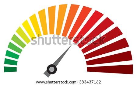 vector speedometer (dashboard speedometer icon) - stock vector