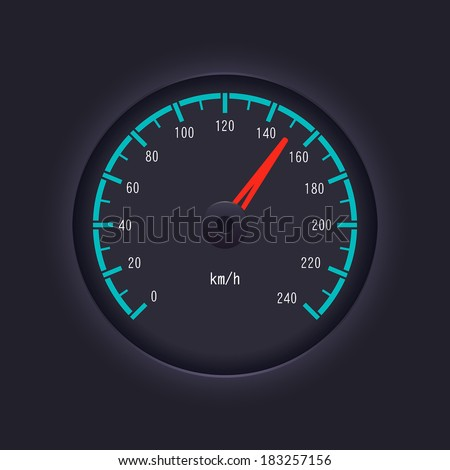 Vector speedometer design - stock vector