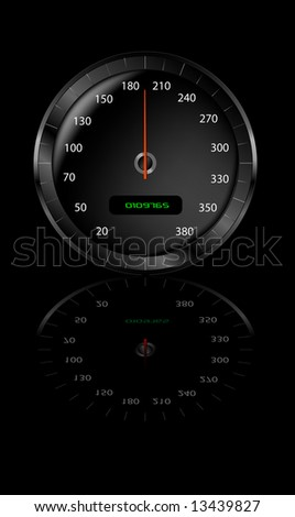 Vector Speedometer Highly Detailed - stock vector