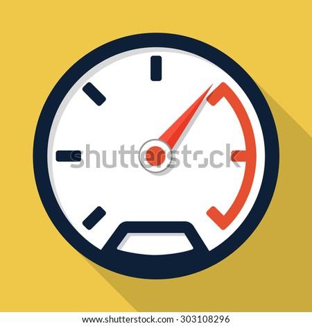 Vector speedometer icon - stock vector