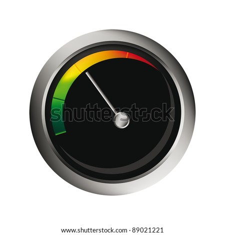 vector speedometer isolated over white background for you web design. Tachometer measure rpm. - stock vector
