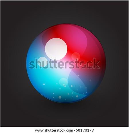 Vector sphere - stock vector