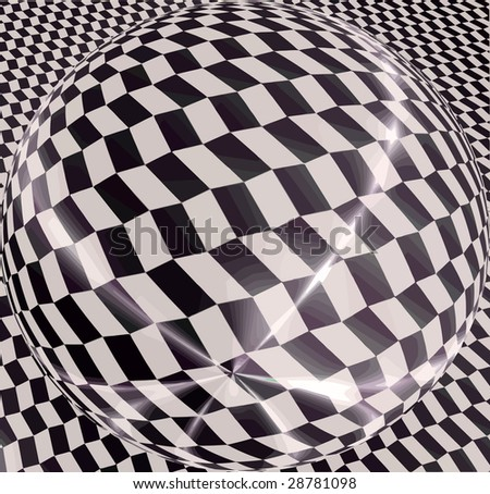vector - sphere optical view - stock vector