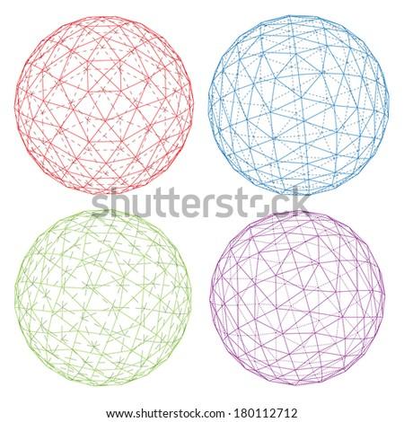 Vector spheres set. - stock vector