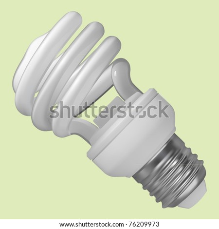 vector spiral fluorescent light bulb - stock vector