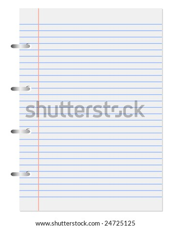 Vector spiral page from notepad - stock vector