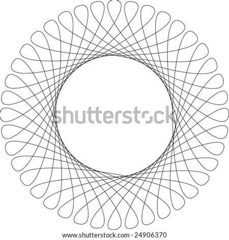 Vector spirograph pattern frame - stock vector