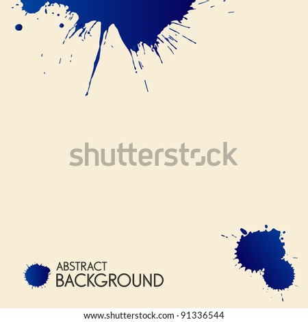 Vector splash - stock vector