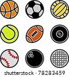 vector sport balls - stock vector