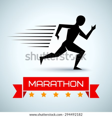 Vector sport logo for a running - stock vector