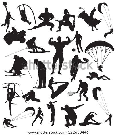 vector sport silhouette - stock vector