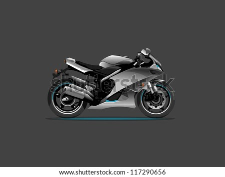 vector sports motorcycle,background, - stock vector