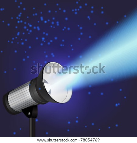 Vector spot light - stock vector