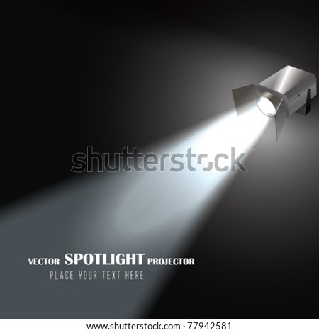 Vector Spotlight Projector - stock vector