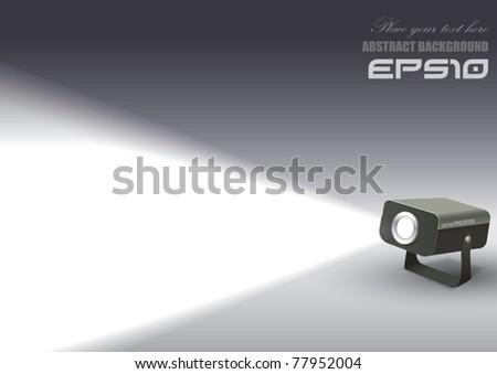 Vector Spotlight Projector - stock vector