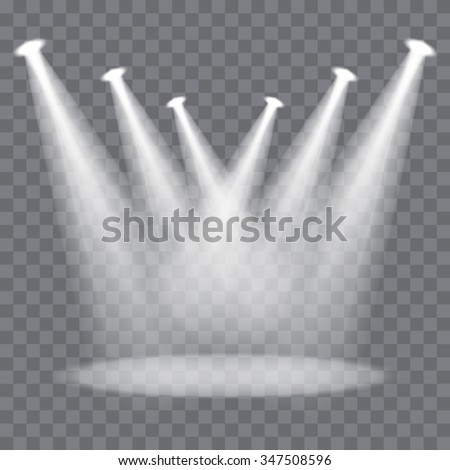 Vector spotlights scene - stock vector