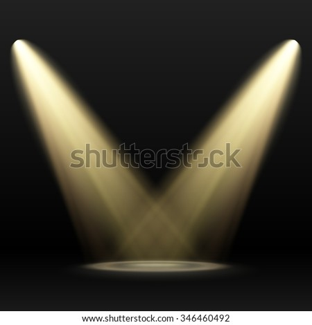 Vector Spotlights. Scene. Light Effects - stock vector