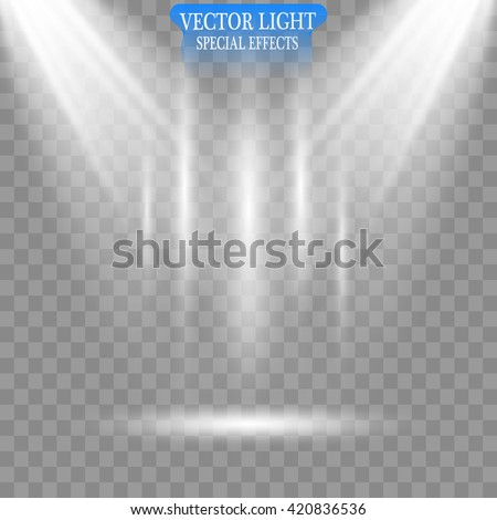 Vector Spotlights. Scene. Light Effects. - stock vector