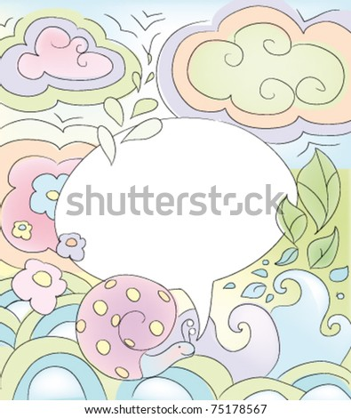 vector spring background,  pastel colors illustration - stock vector