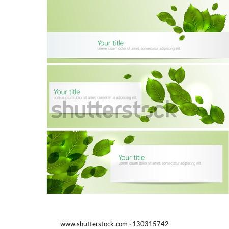 Vector spring-summer banners - stock vector