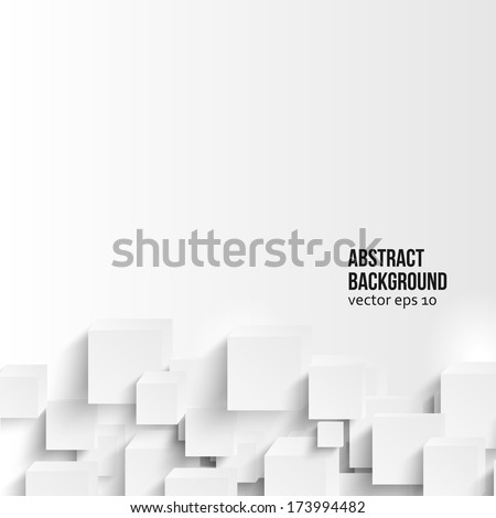 Vector  square. Abstract background card and blue. 3d