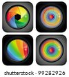 vector square abstract designs with rainbow  elements - stock photo